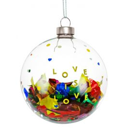 Love is Love Glass Ornament 2019