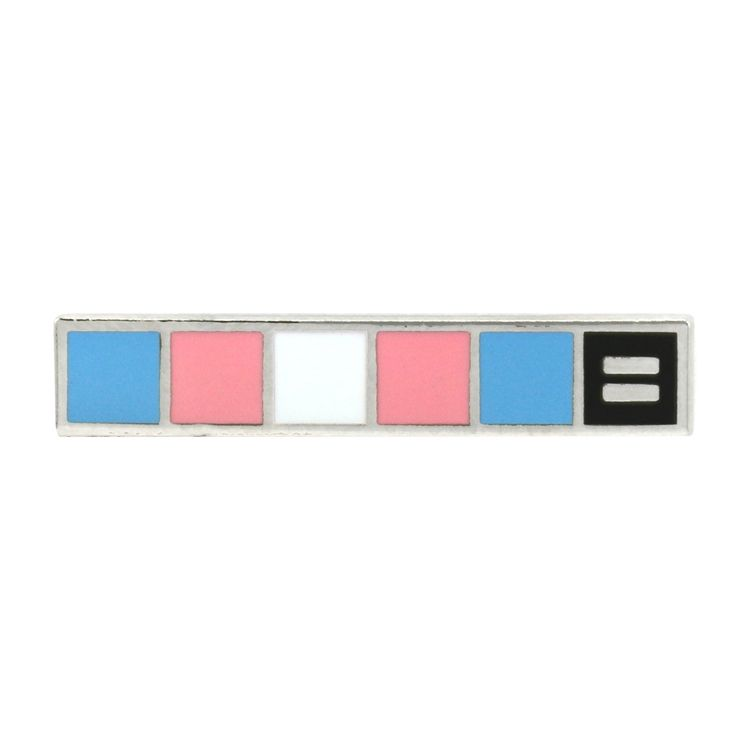 Trans Flag Pin For Trans Pride Hrc
